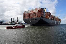 container ships idled