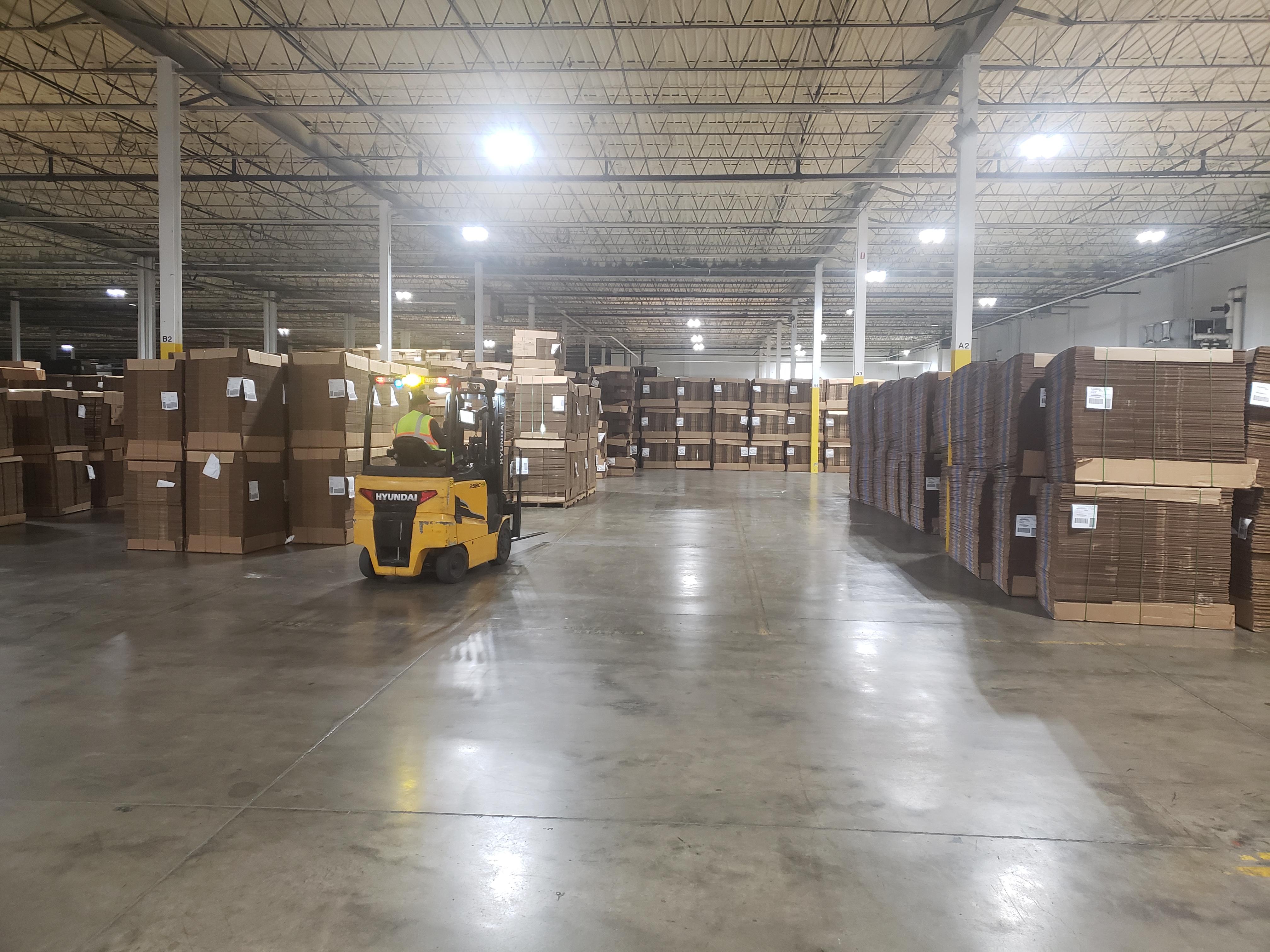 KC inside warehouse